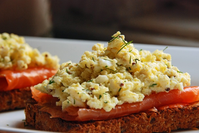 The Barefoot Contessa: Smoked Salmon and Egg Salad Tartines Recipe from Feasts and Fotos